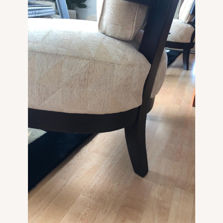 Stunning Wood Custom Upholstered Chairs - image-5