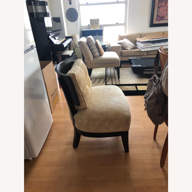 Stunning Wood Custom Upholstered Chairs - image-3