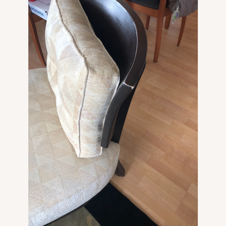 Stunning Wood Custom Upholstered Chairs - image-4