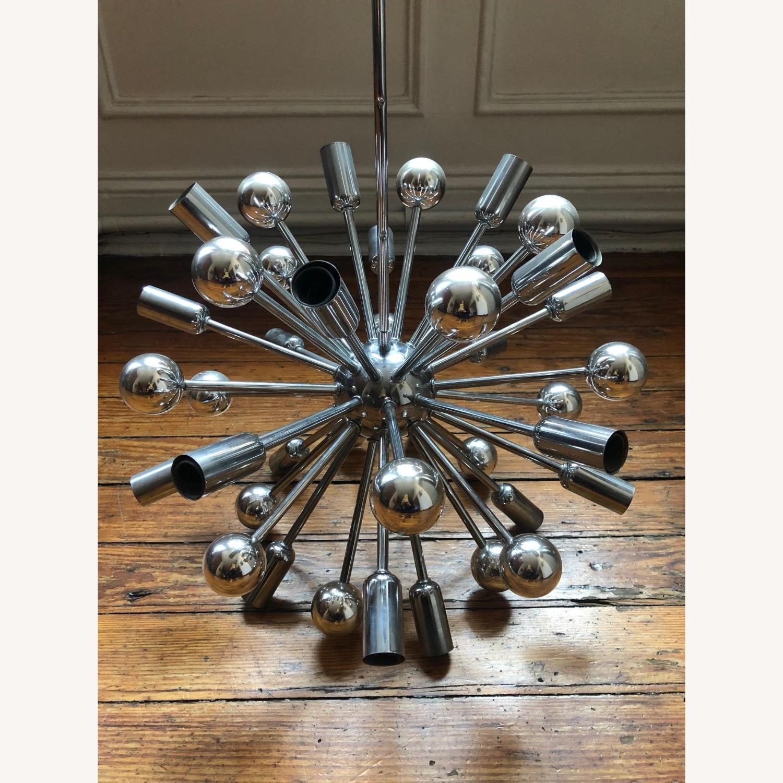 Authentic Mid-century Chrome Sputnik Chandelier - image-2