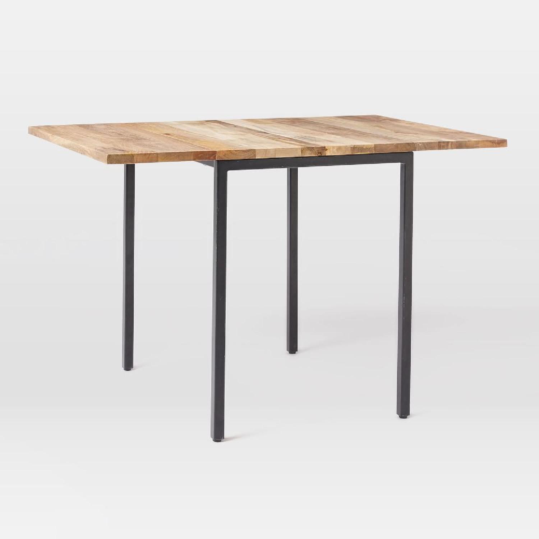 West Elm Box Frame Drop Leaf Expandable Table - image-10