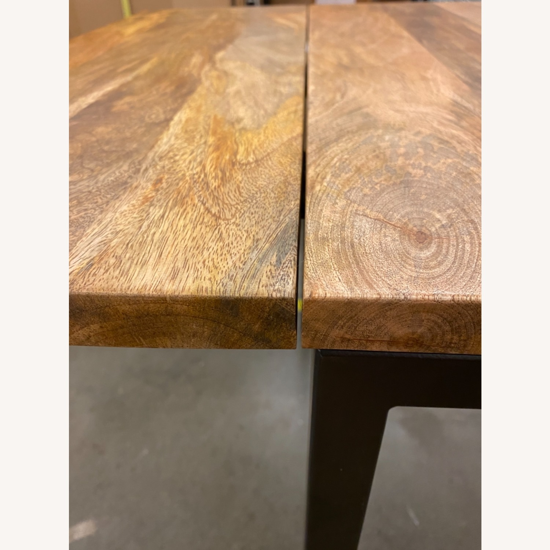 West Elm Box Frame Drop Leaf Expandable Table - image-7