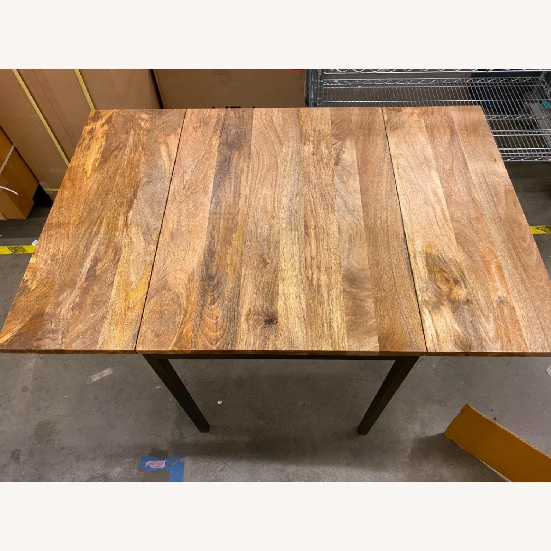 West Elm Box Frame Drop Leaf Expandable Table - image-1