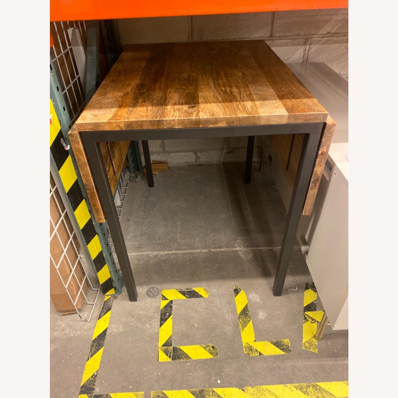 West Elm Box Frame Drop Leaf Expandable Table - image-8