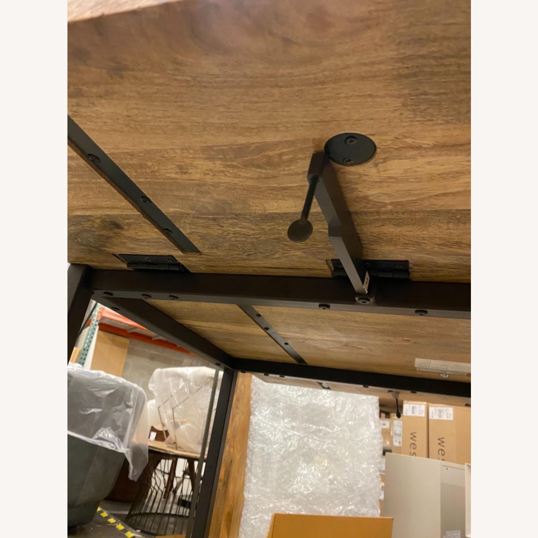 West Elm Box Frame Drop Leaf Expandable Table - image-6