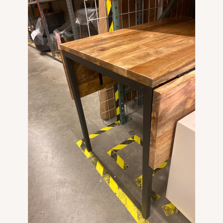 West Elm Box Frame Drop Leaf Expandable Table - image-9