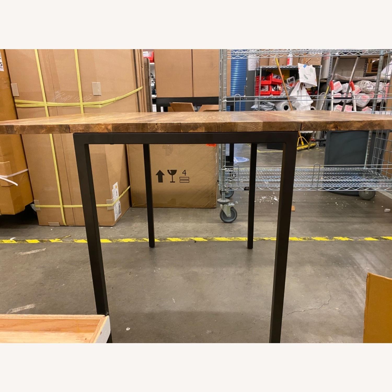 West Elm Box Frame Drop Leaf Expandable Table - image-3