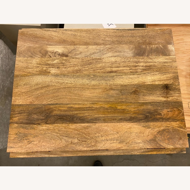 West Elm Box Frame Drop Leaf Expandable Table - image-2