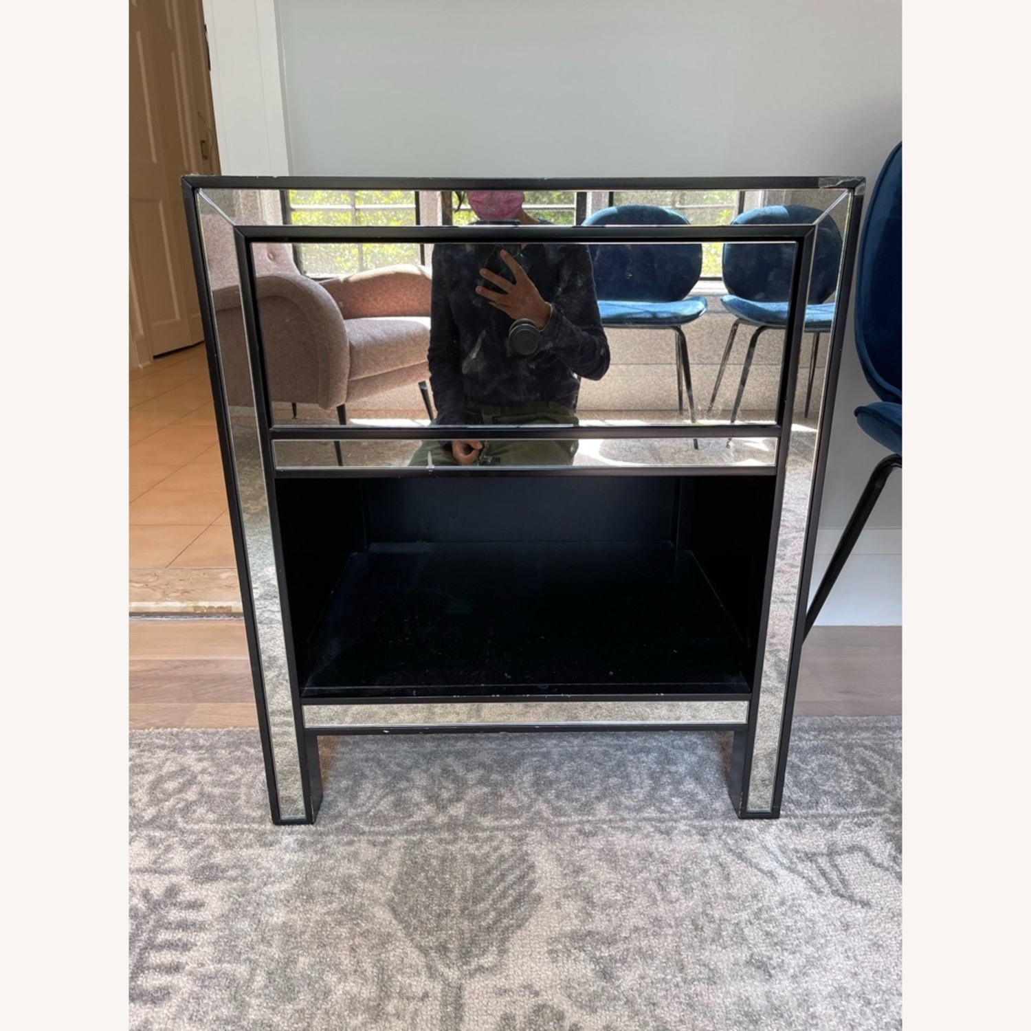 Pottery Barn Mirrored Bedside Tables - image-2