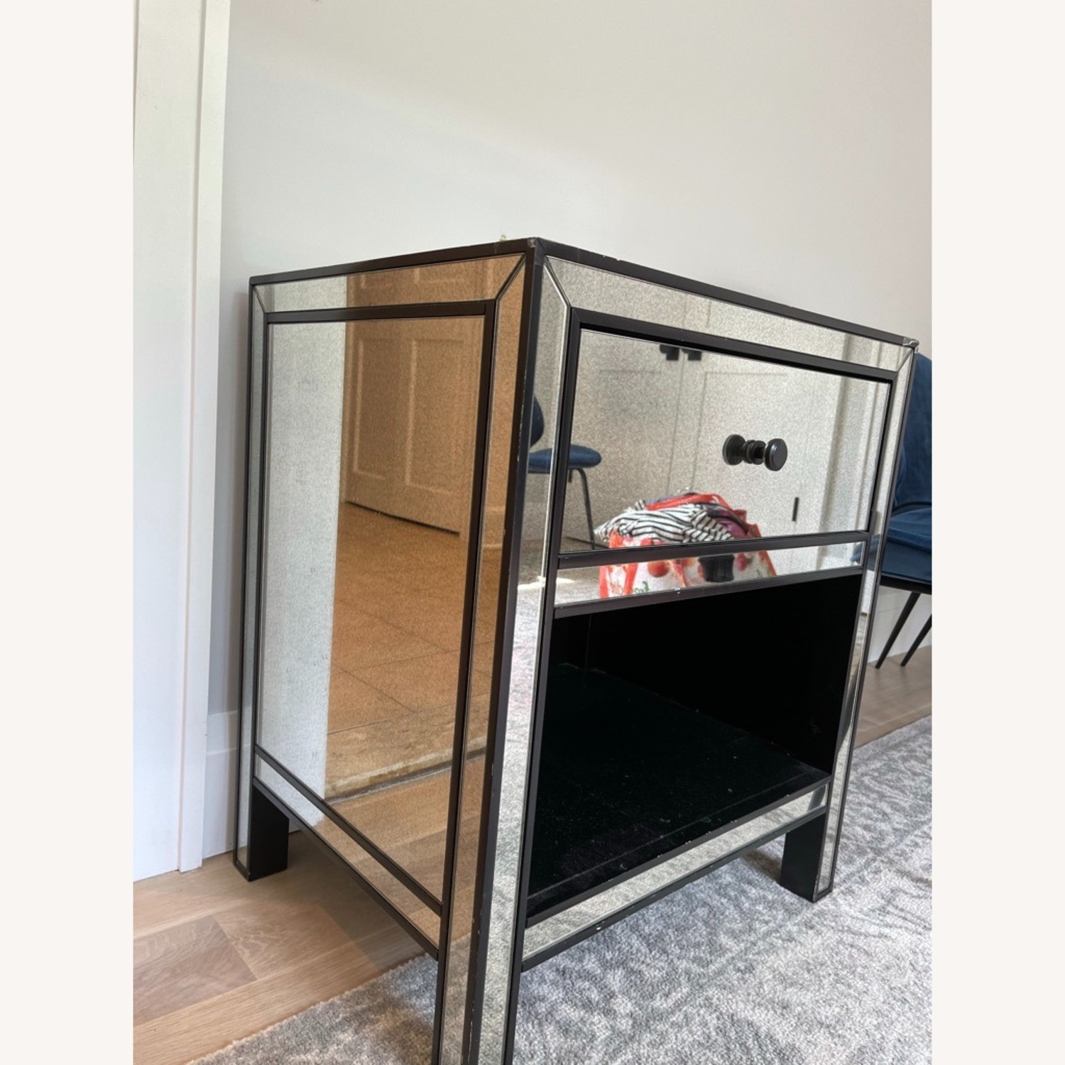 Pottery Barn Mirrored Bedside Tables - image-3