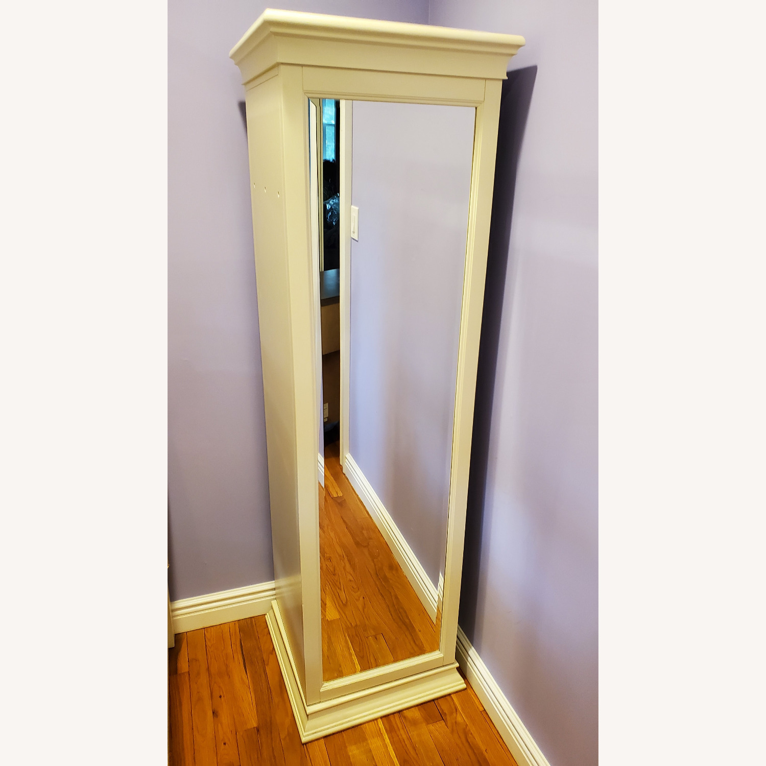 Pottery Barn Display-It Rotating Bookcase w/Mirror - image-4
