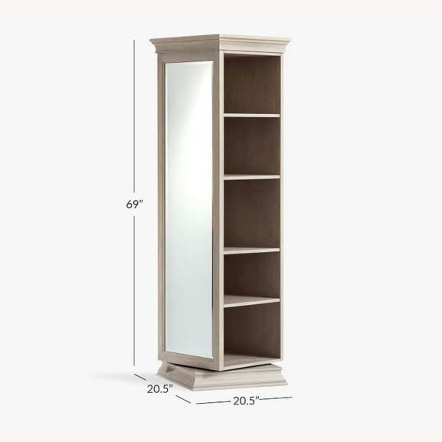 Pottery Barn Display-It Rotating Bookcase w/Mirror - image-3