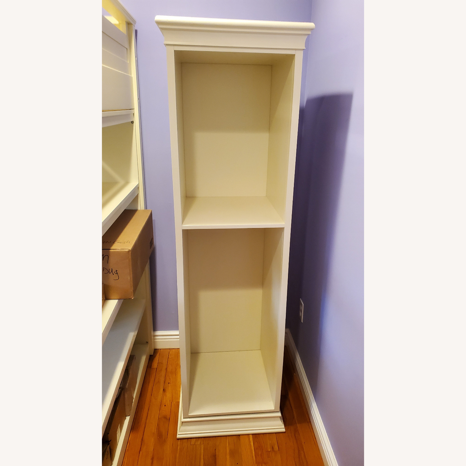 Pottery Barn Display-It Rotating Bookcase w/Mirror - image-6