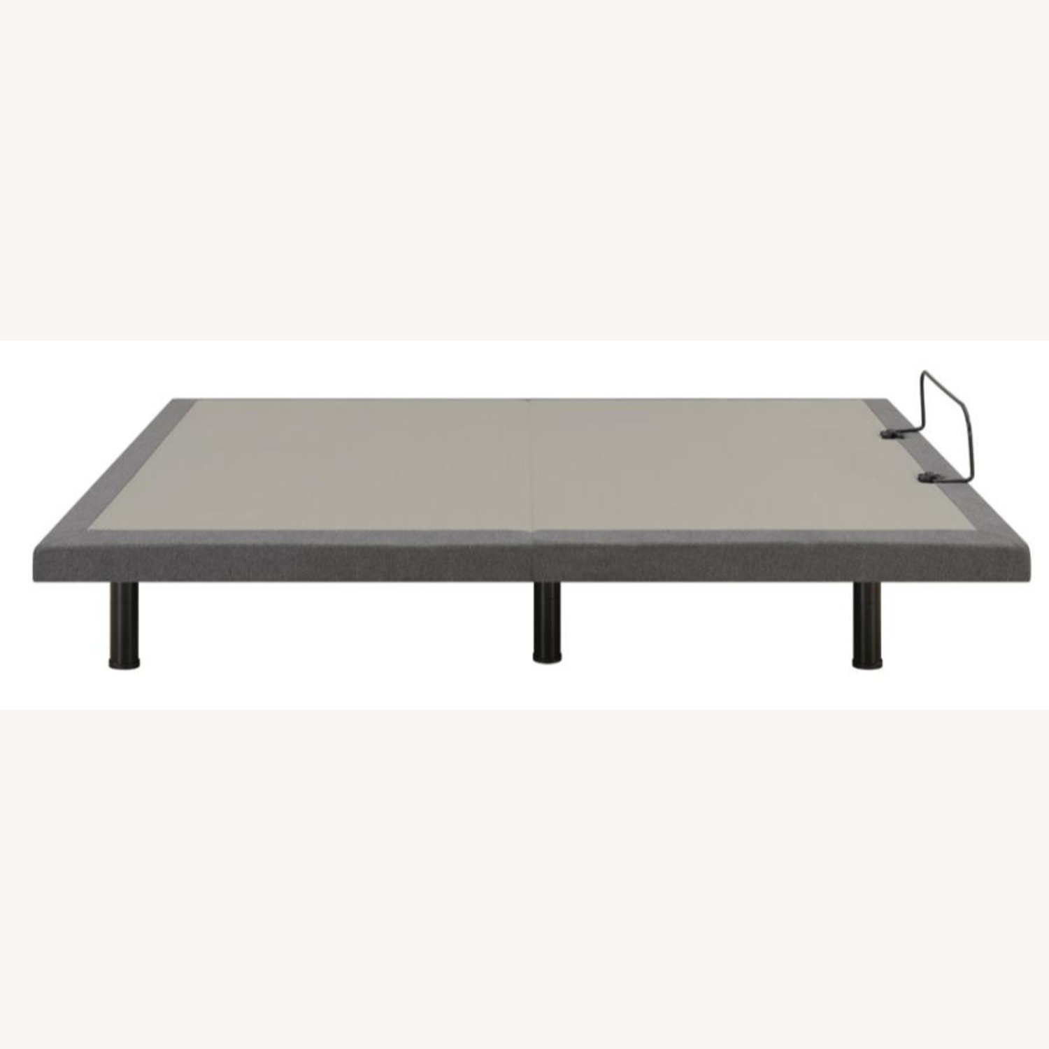 Queen Adjustable Bed Base In Grey Fabric Finish - image-7