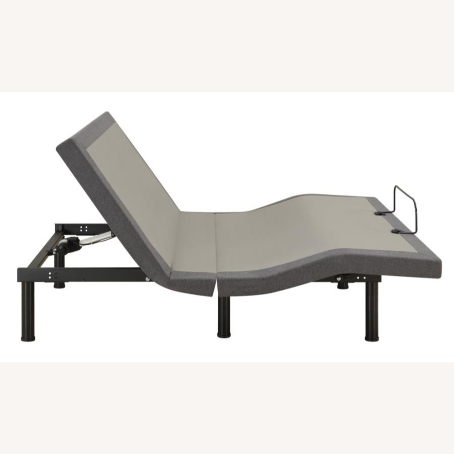 Queen Adjustable Bed Base In Grey Fabric Finish - image-6