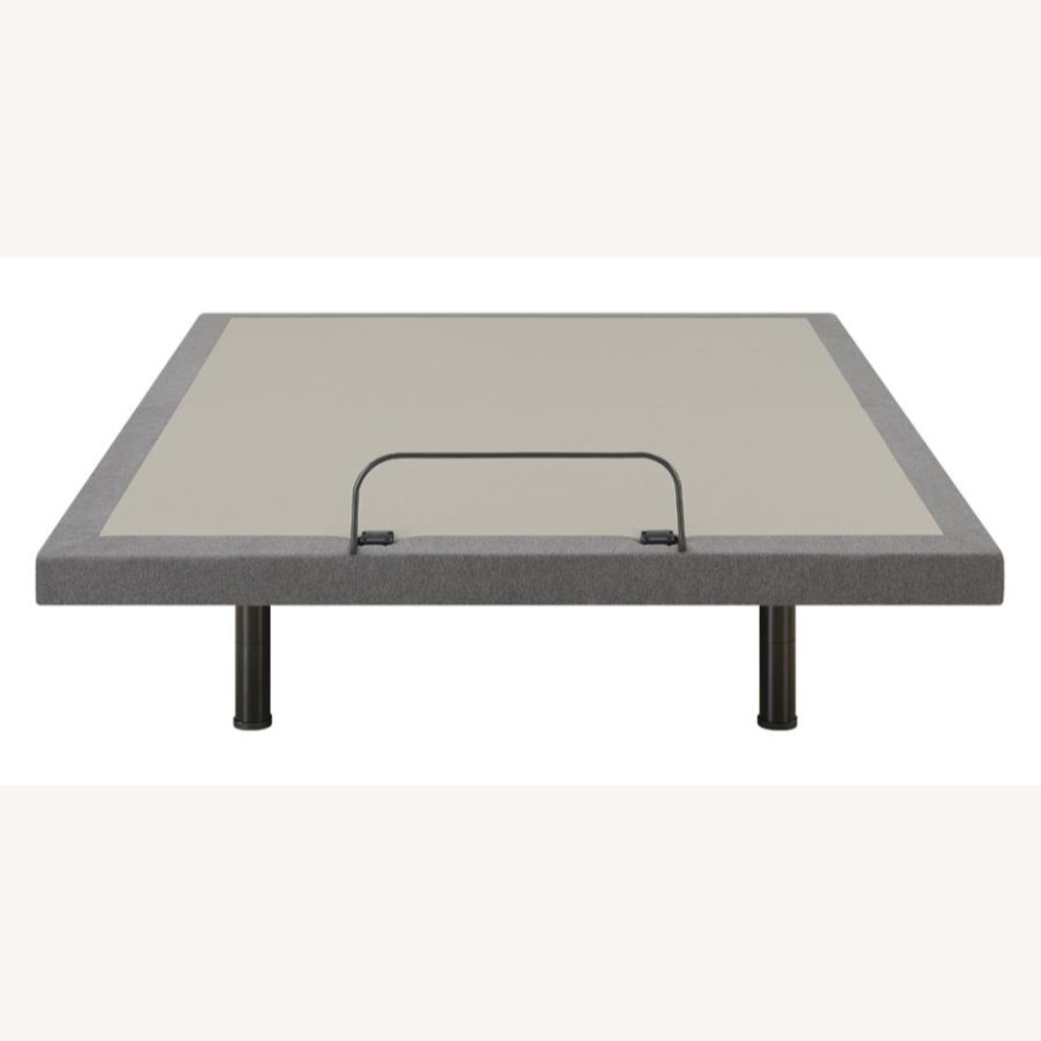 Queen Adjustable Bed Base In Grey Fabric Finish - image-3