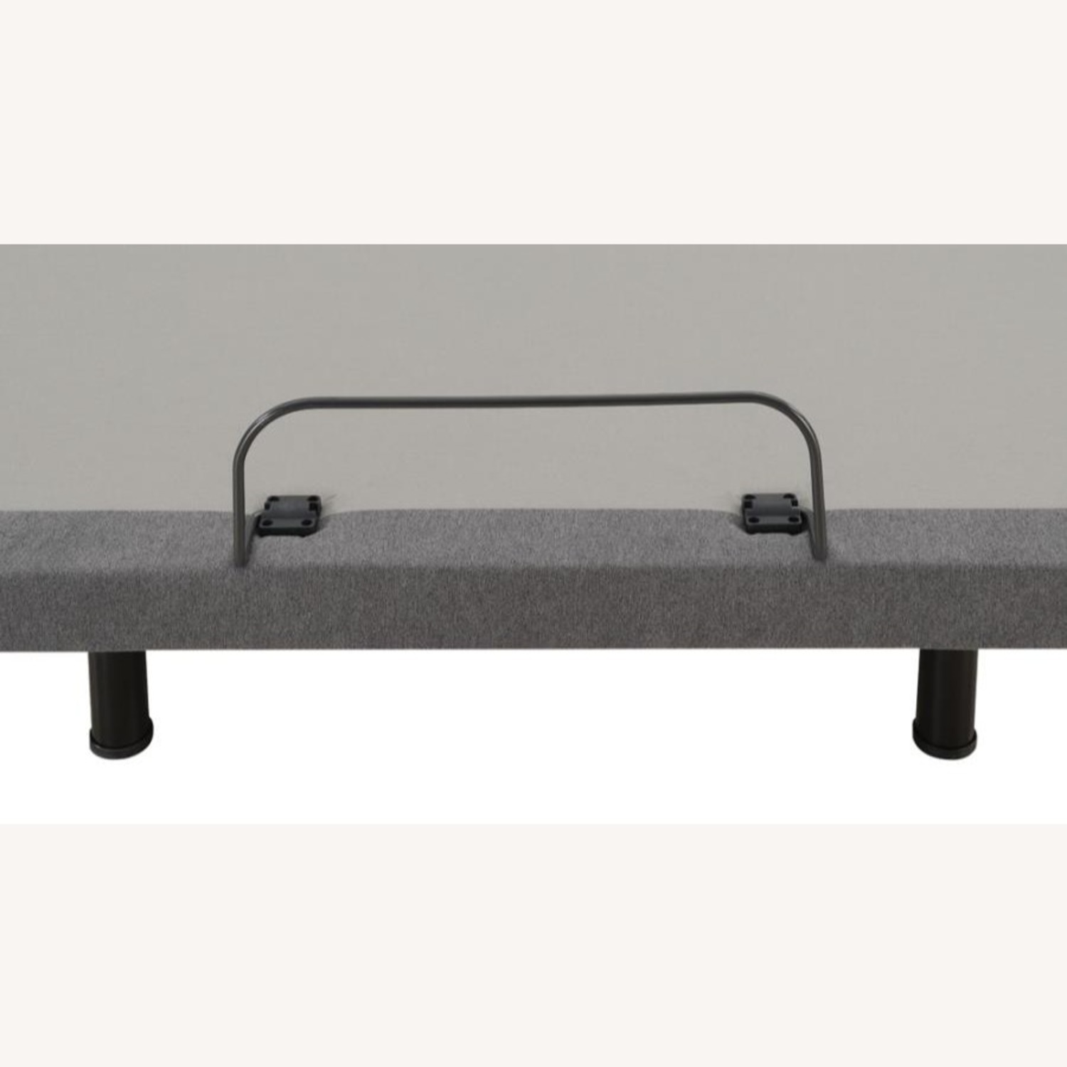 Queen Adjustable Bed Base In Grey Fabric Finish - image-8
