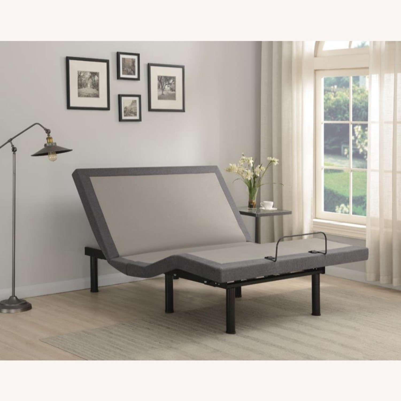 Full Adjustable Bed Base In Grey Fabric Finish - image-13