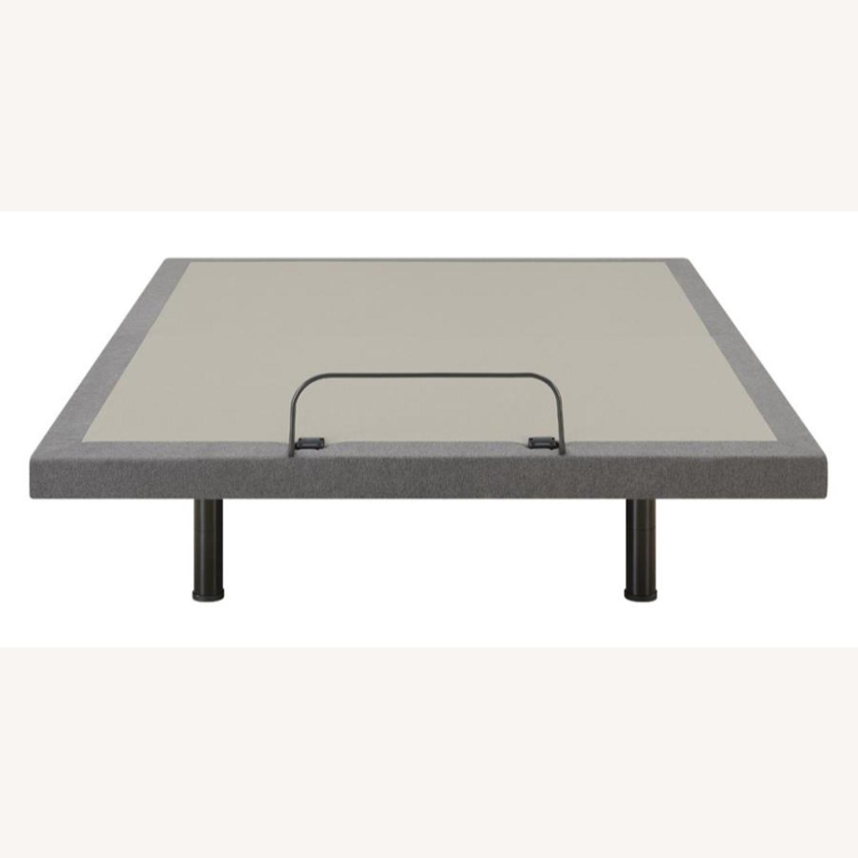 Full Adjustable Bed Base In Grey Fabric Finish - image-3