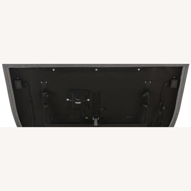 Full Adjustable Bed Base In Grey Fabric Finish - image-12