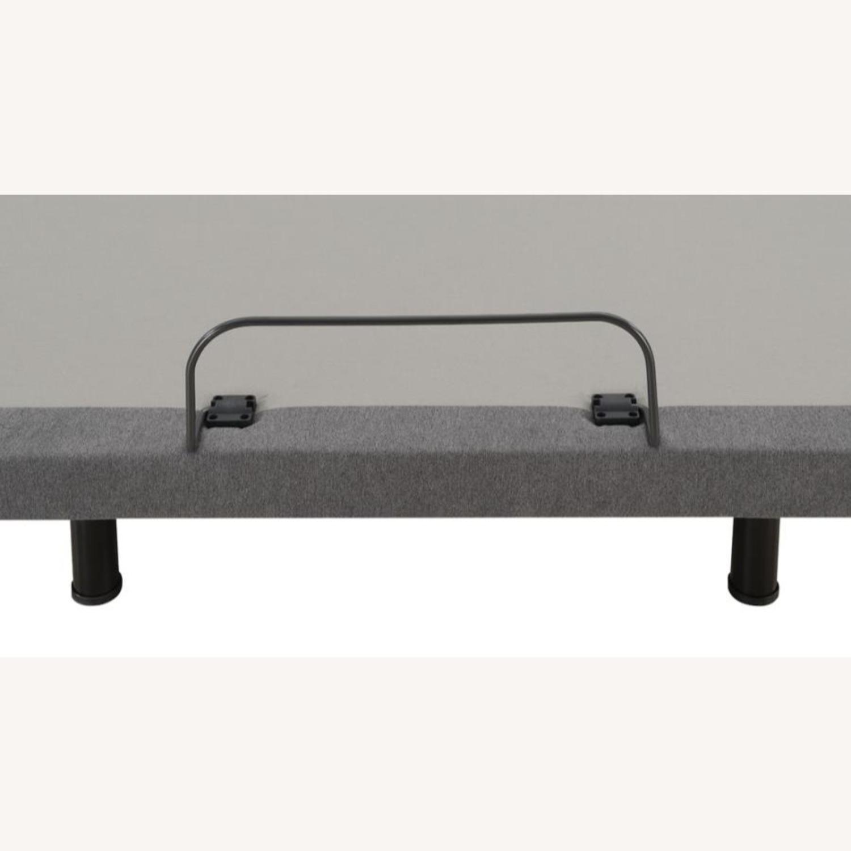 Full Adjustable Bed Base In Grey Fabric Finish - image-7