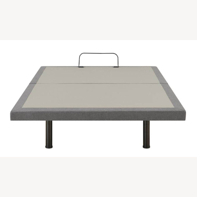Full Adjustable Bed Base In Grey Fabric Finish - image-4