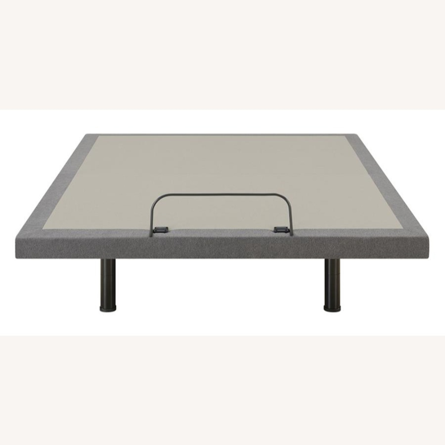 Twin XL Adjustable Bed Base In Grey Fabric Finish - image-3