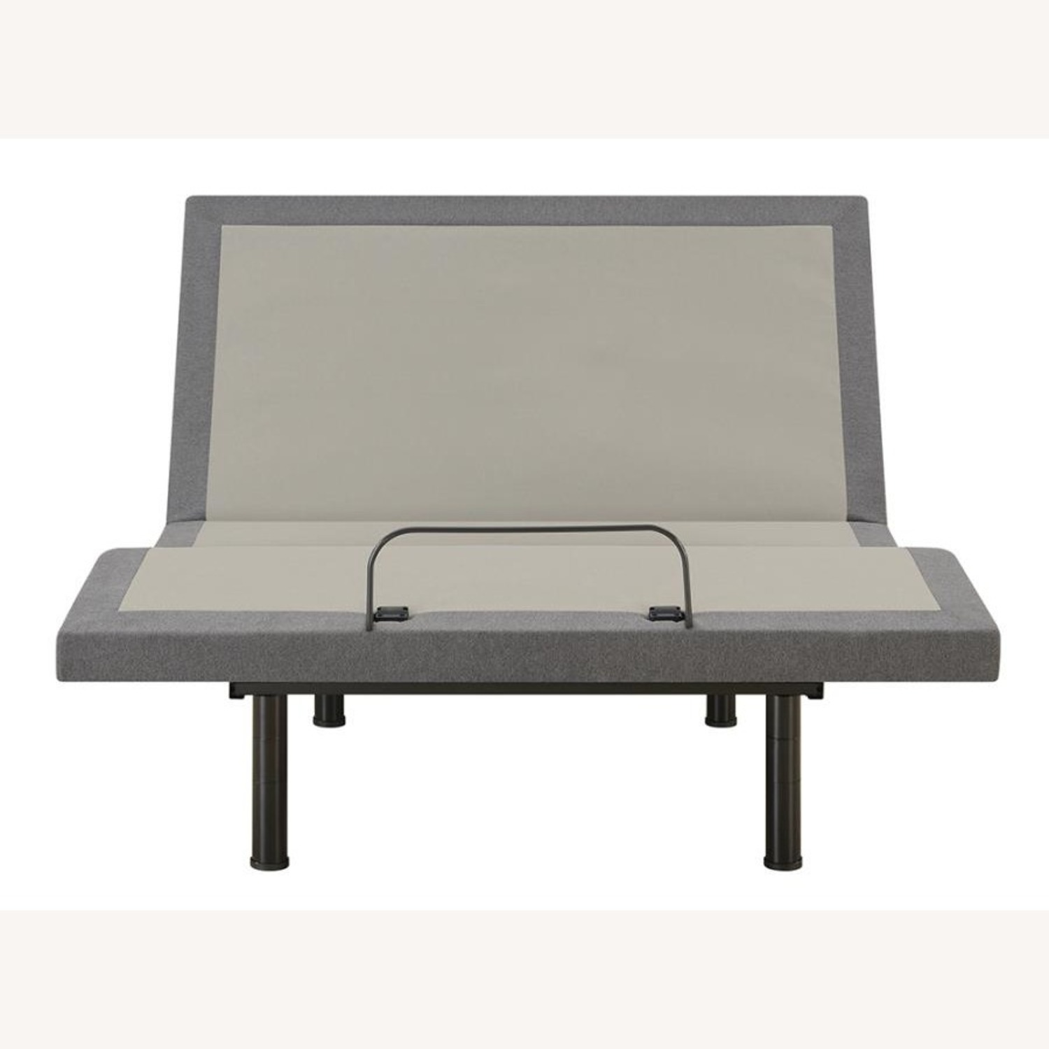 Twin XL Adjustable Bed Base In Grey Fabric Finish - image-2