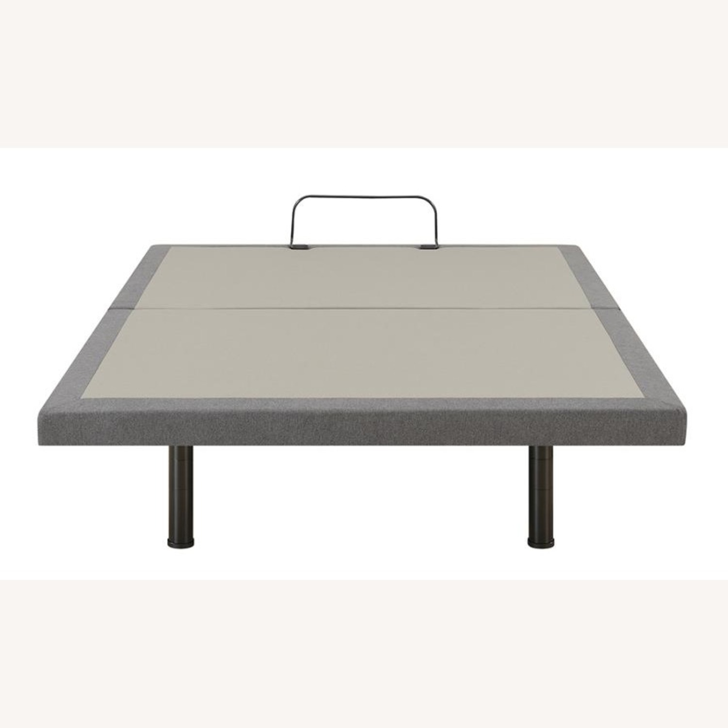 Twin XL Adjustable Bed Base In Grey Fabric Finish - image-4