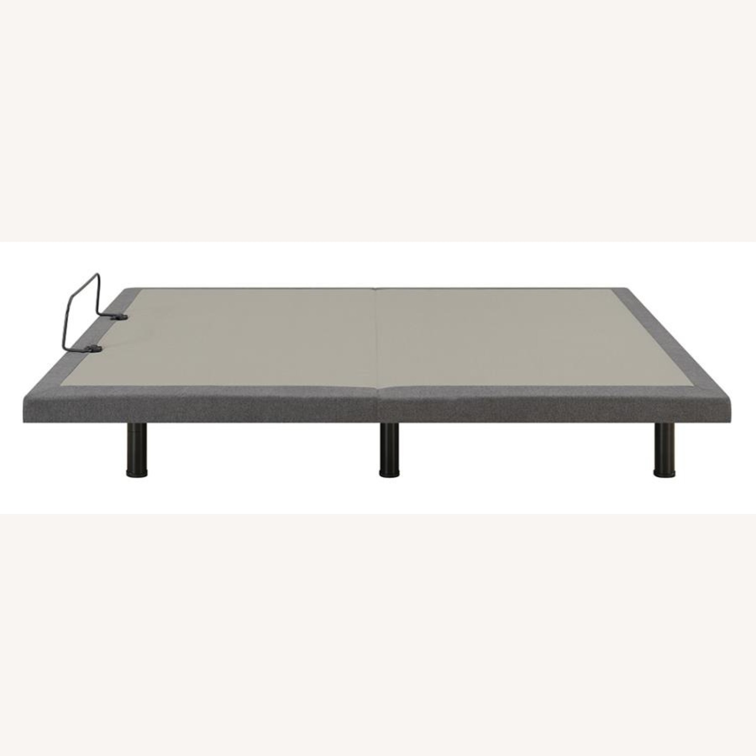 Twin XL Adjustable Bed Base In Grey Fabric Finish - image-6