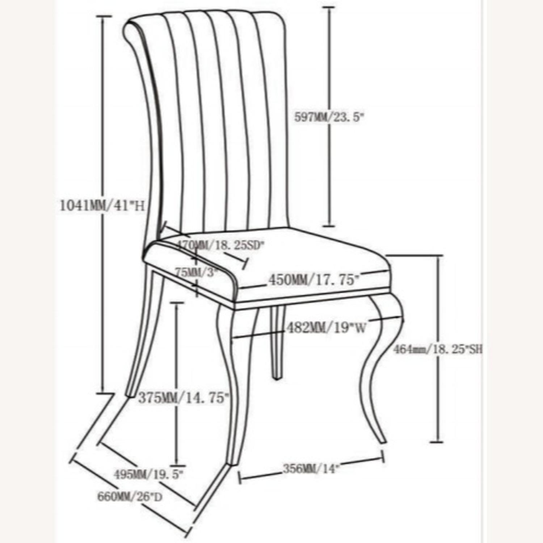 Dining Chair Upholstered In Ink Blue Velvet Finish - image-6