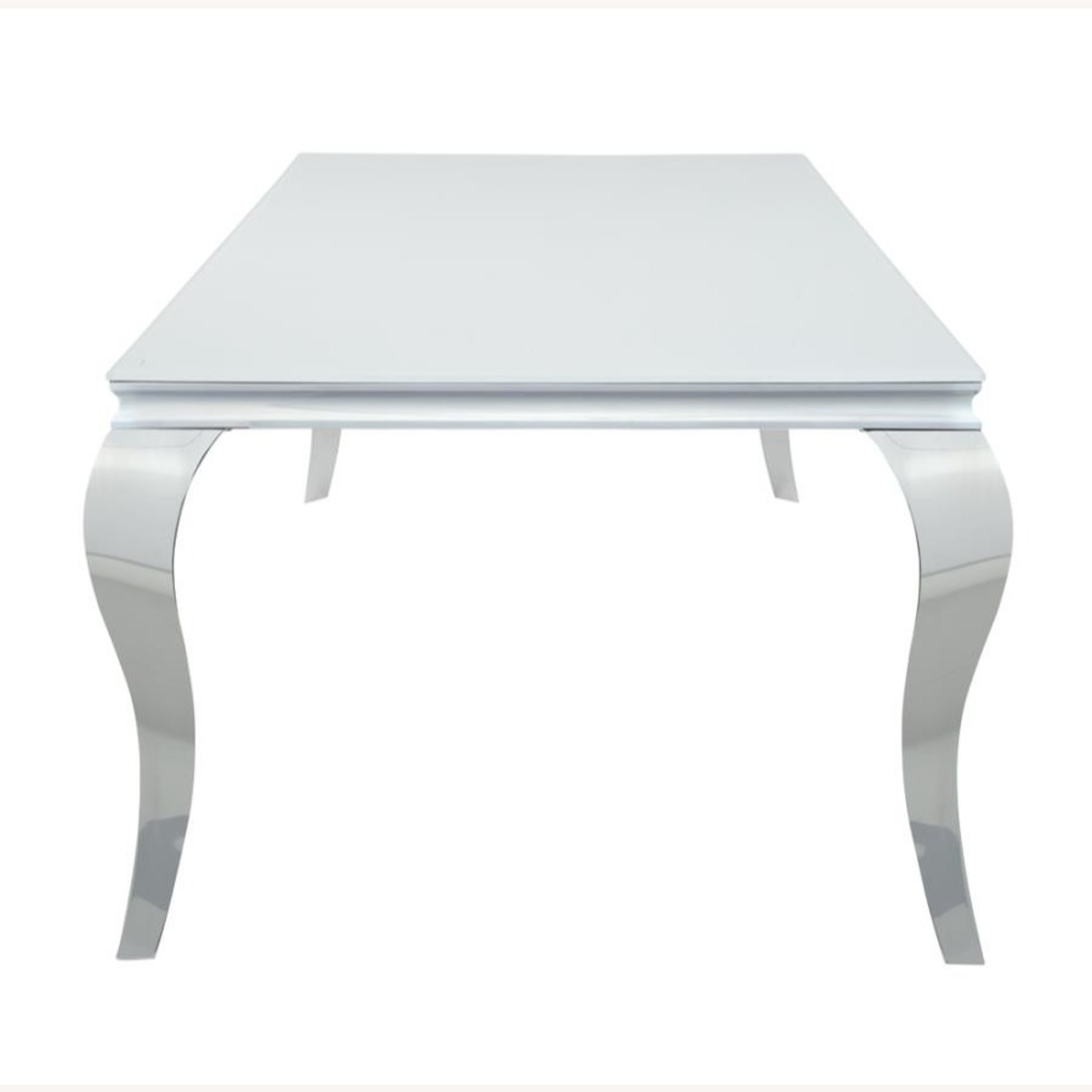 Dining Table In Chrome Base Finish W/ White Top - image-2