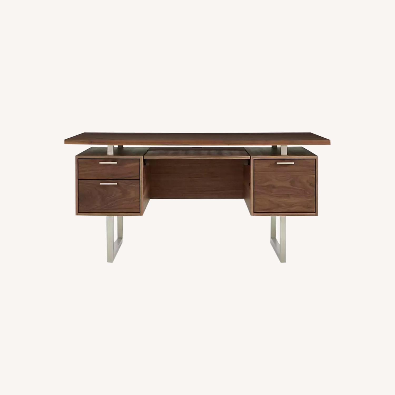 Crate & Barrel Clybourn Walnut Executive Desk - image-0