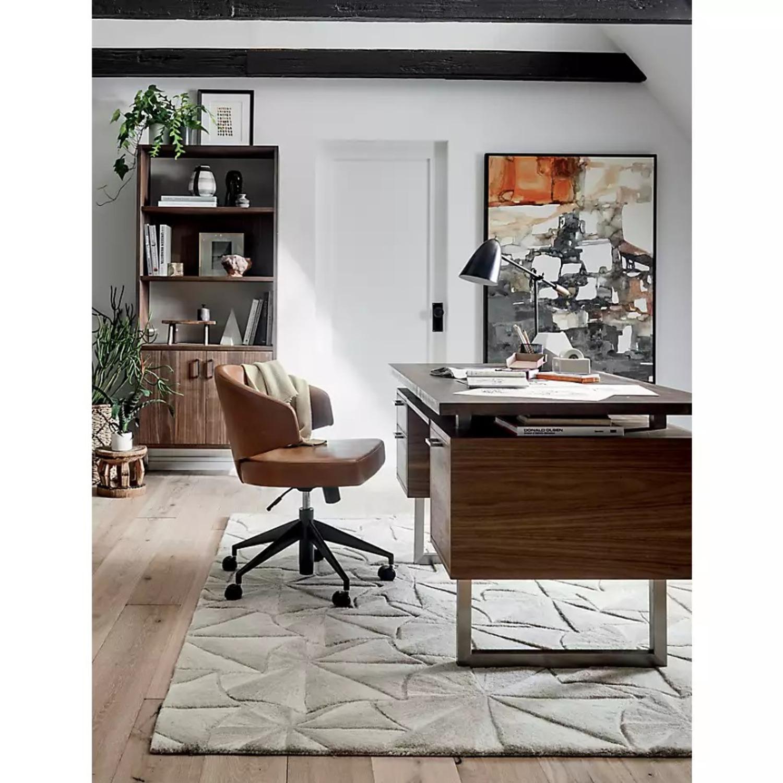 Crate & Barrel Clybourn Walnut Executive Desk - image-2