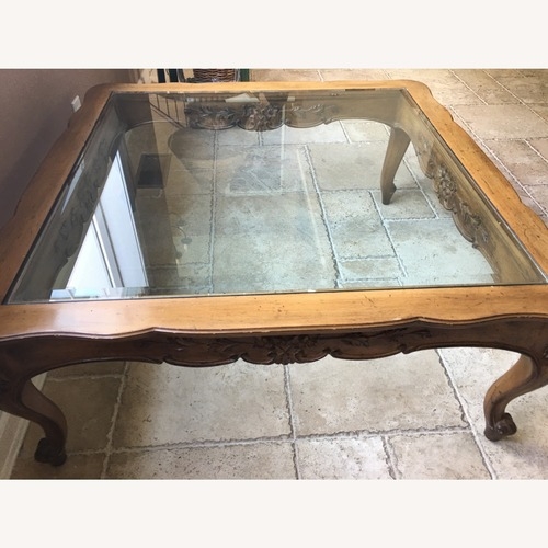 Used Antique Carved Coffee Table for sale on AptDeco