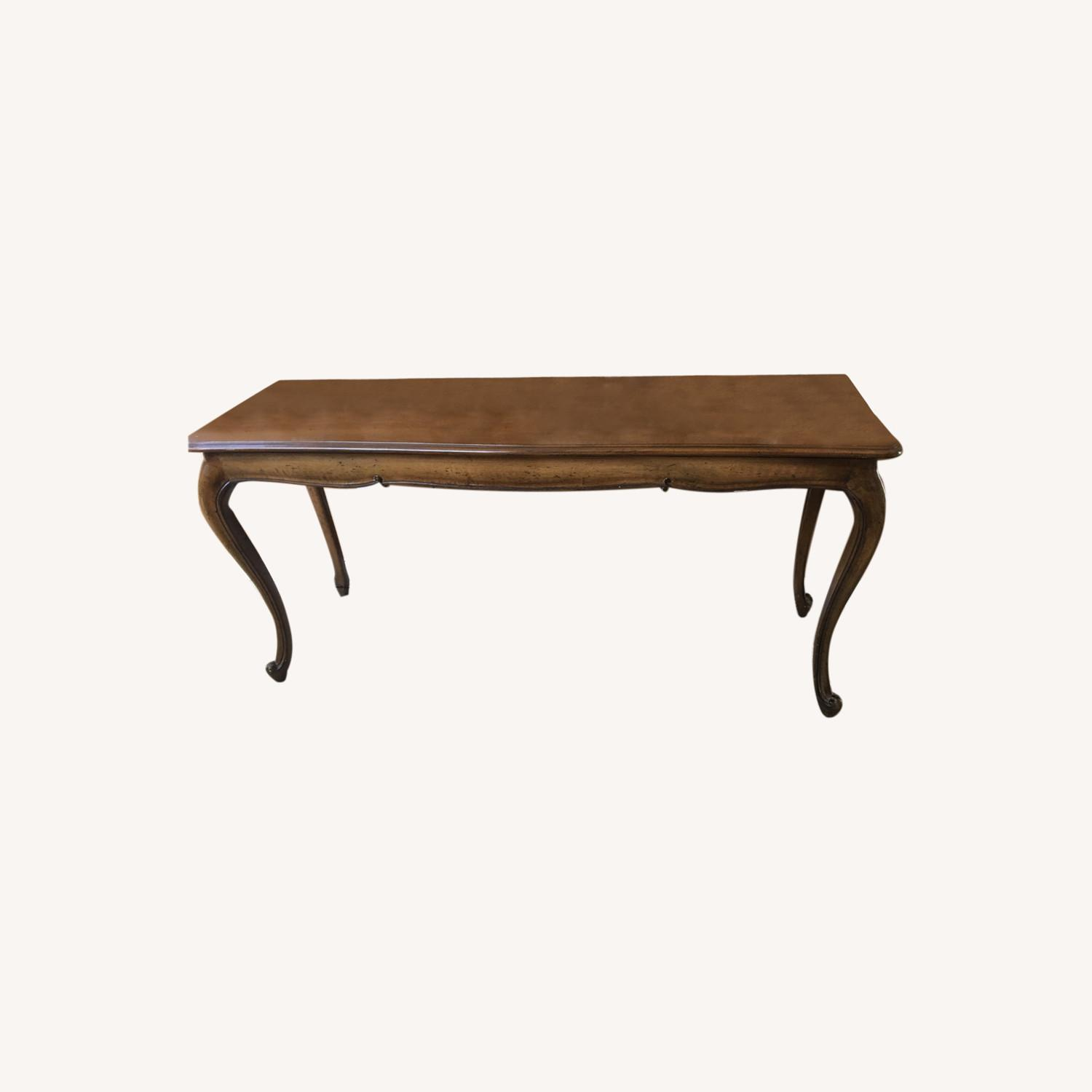 Antique Carved Sofa Table - image-0
