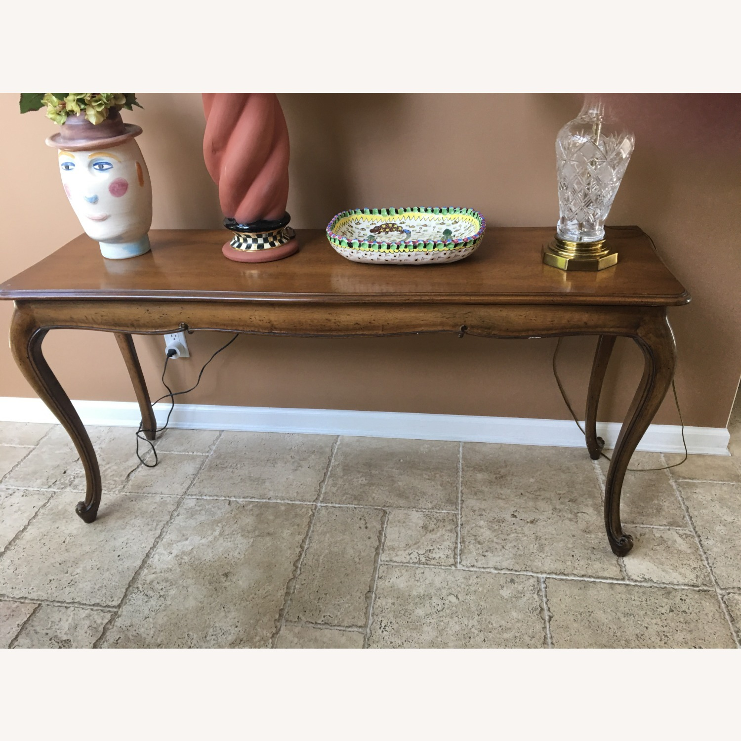 Antique Carved Sofa Table - image-1