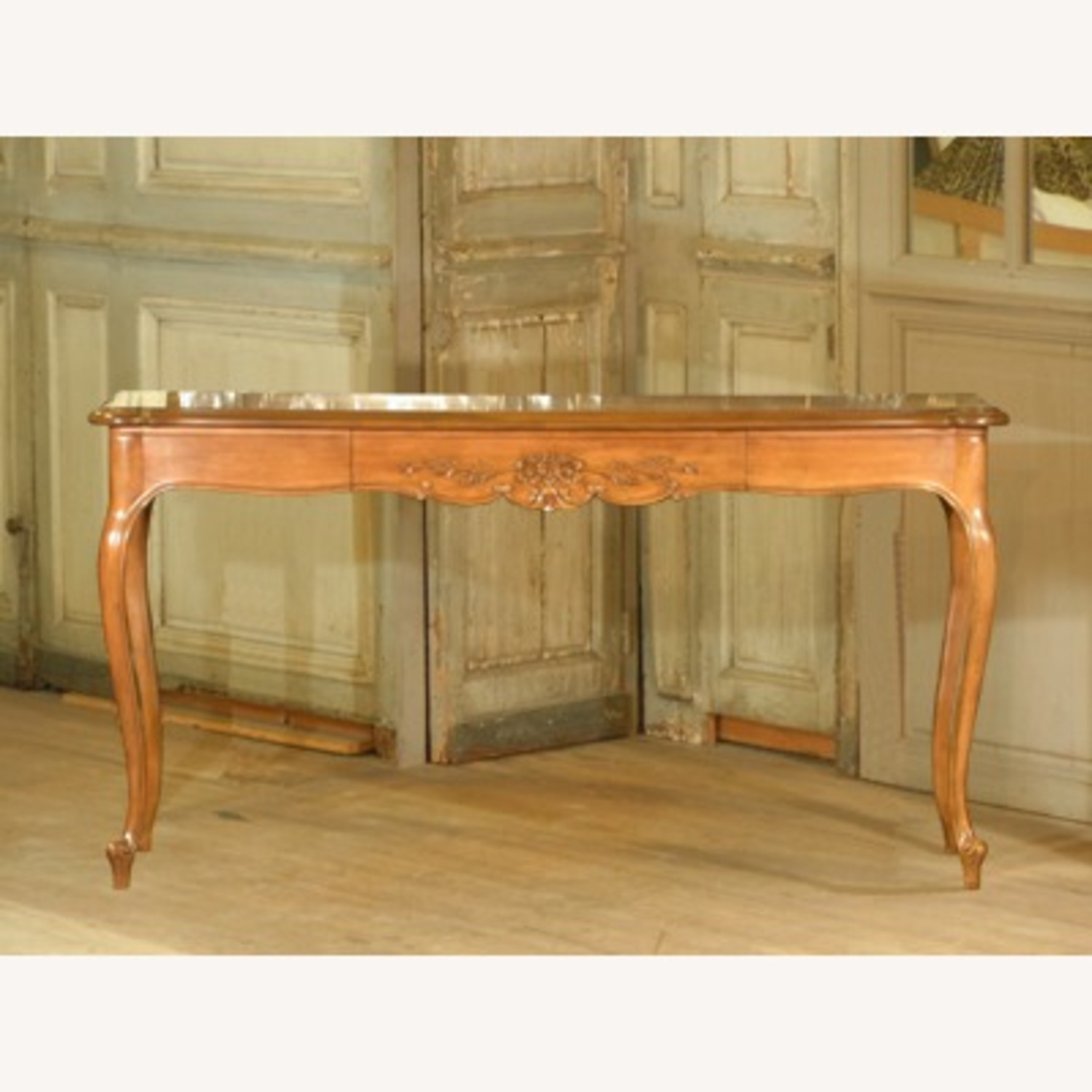 Antique Carved Sofa Table - image-3