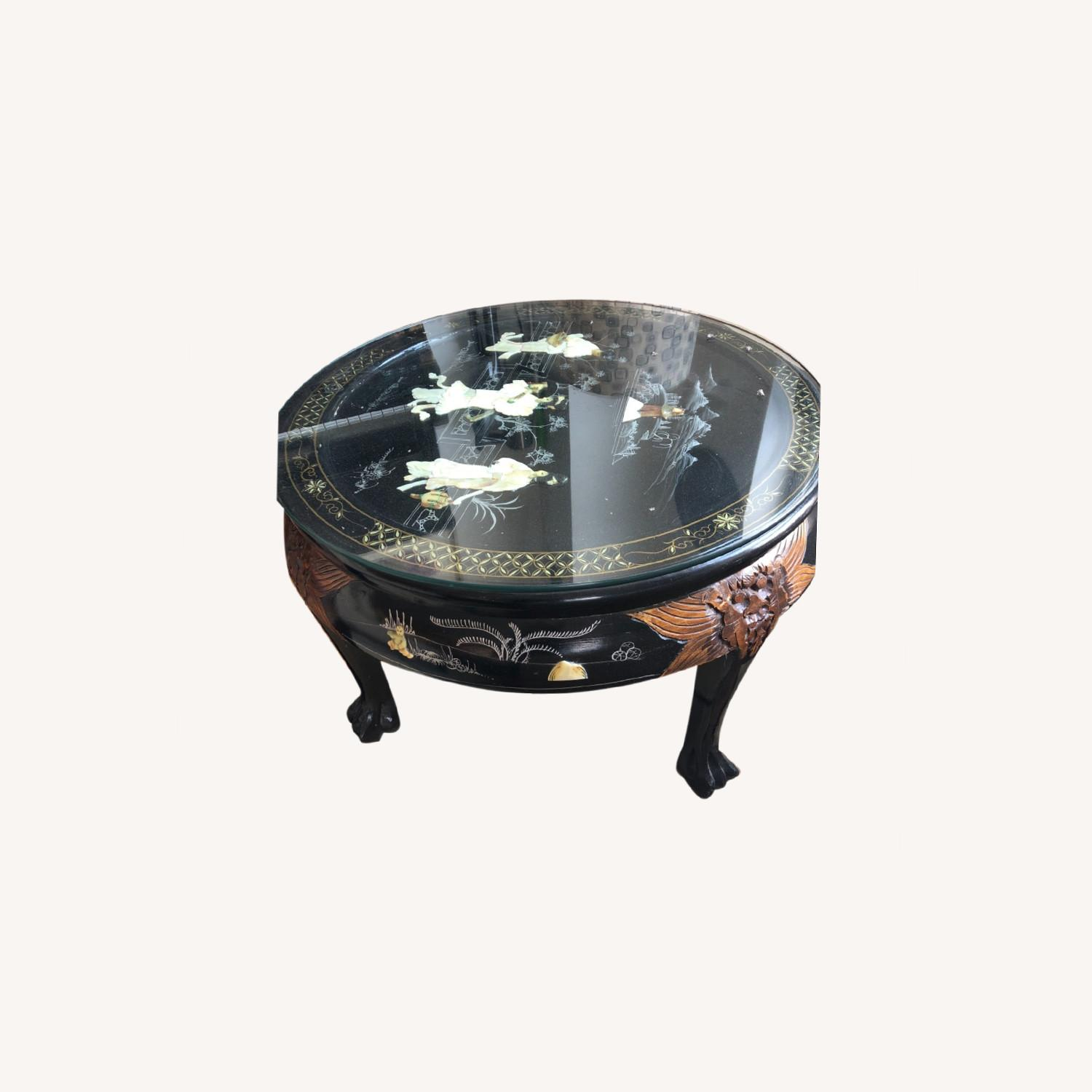 Chinese lacquered Inlaid Coffee Table - image-0