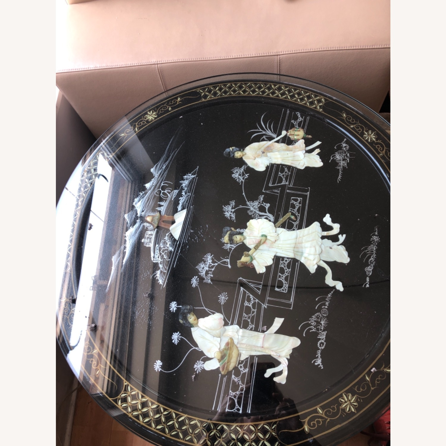 Chinese lacquered Inlaid Coffee Table - image-4