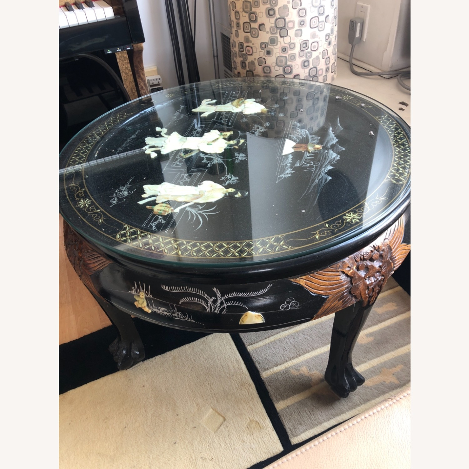 Chinese lacquered Inlaid Coffee Table - image-3