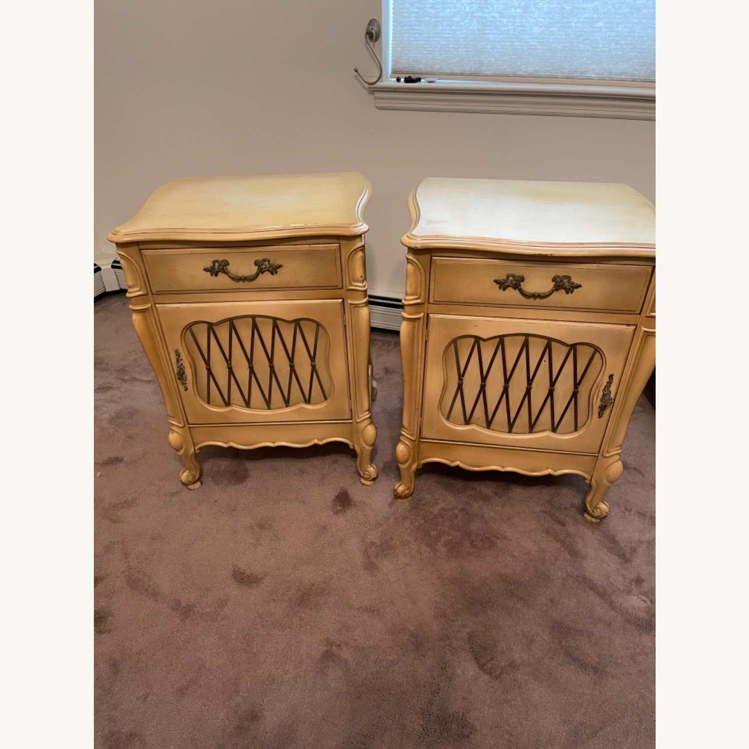 Mid Century French Provencial Nightstands [Pair] - image-2
