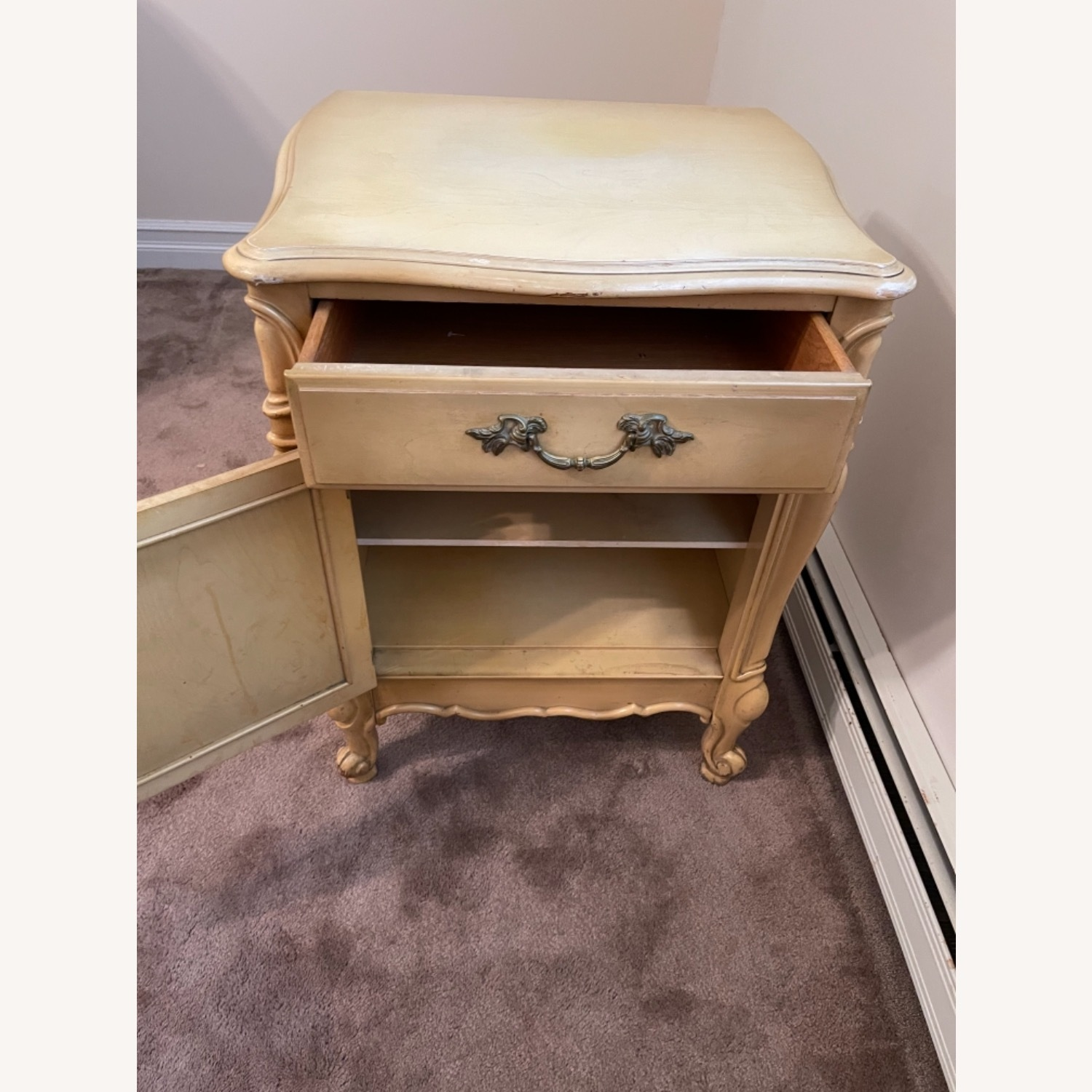 Mid Century French Provencial Nightstands [Pair] - image-3