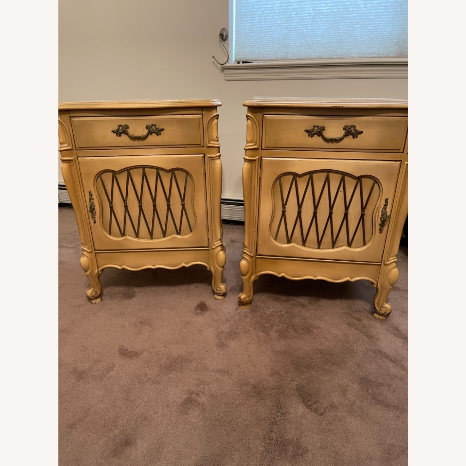 Mid Century French Provencial Nightstands [Pair] - image-1