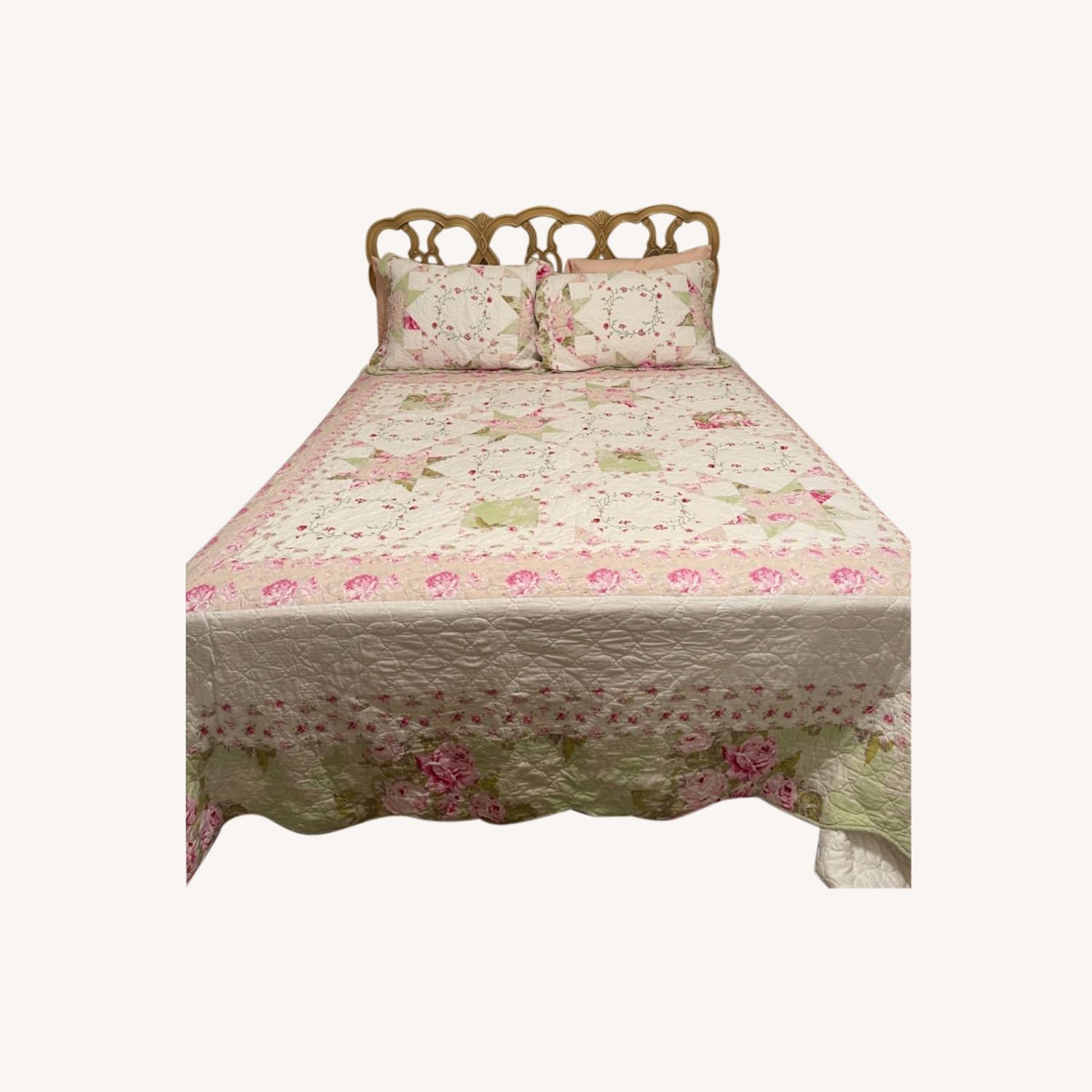 Mid Century French Provincial Queen Headboard - image-0