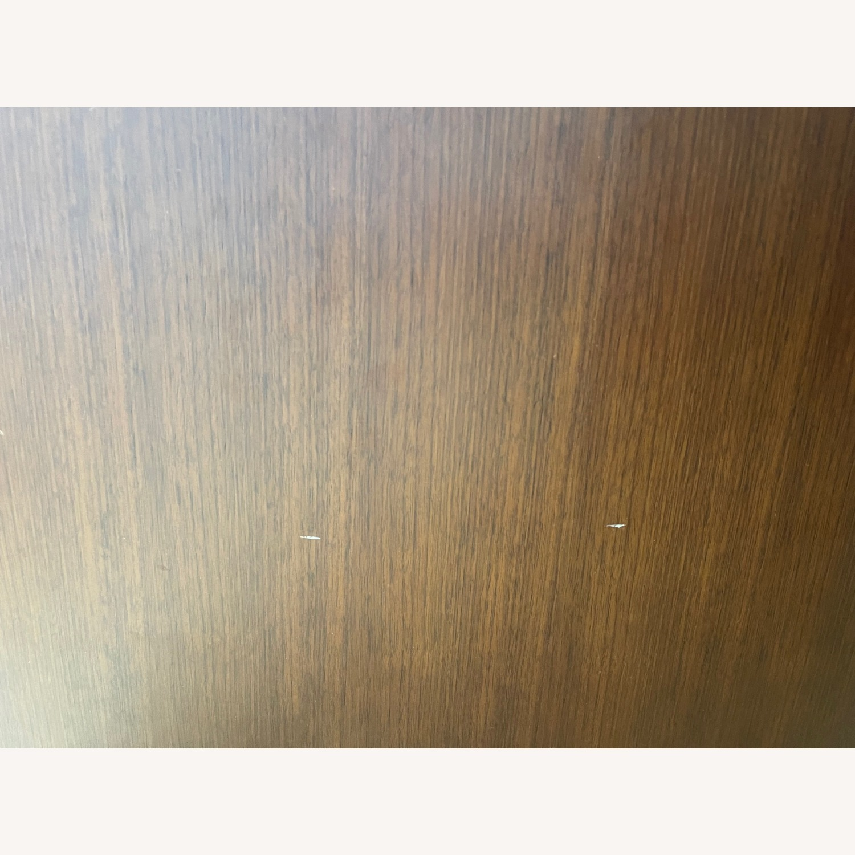 West Elm Luther Velvet Wood Swivel Armchair - image-4