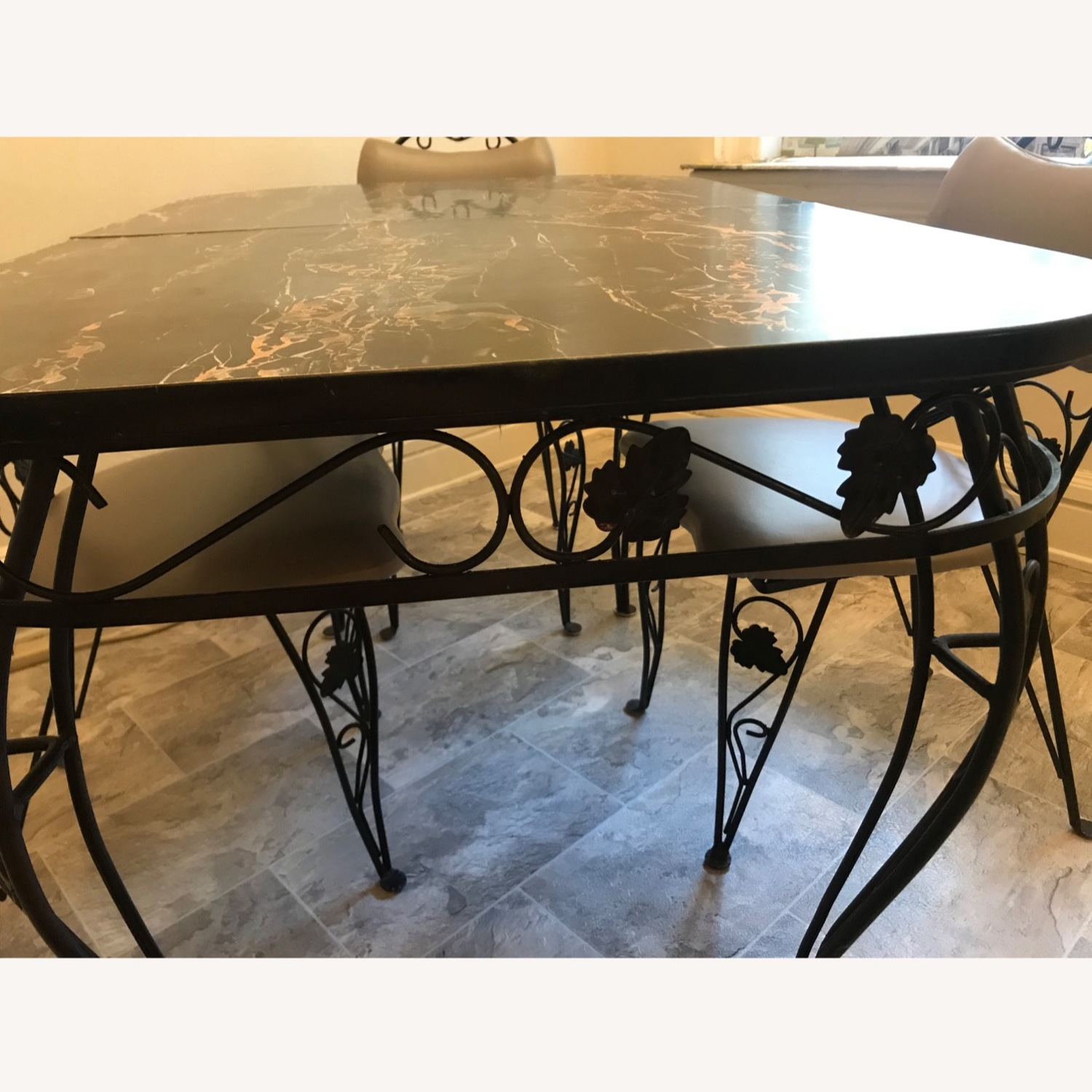 Vintage Wrought Iron / Formica Kitchen Table - image-6