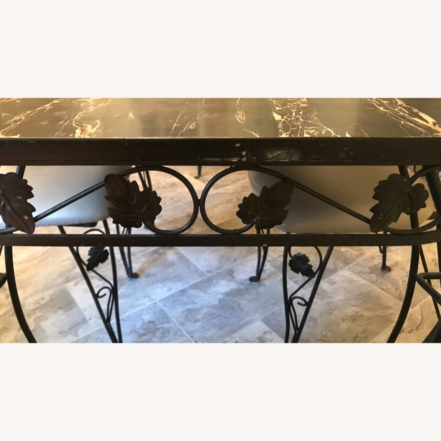 Vintage Wrought Iron / Formica Kitchen Table - image-2