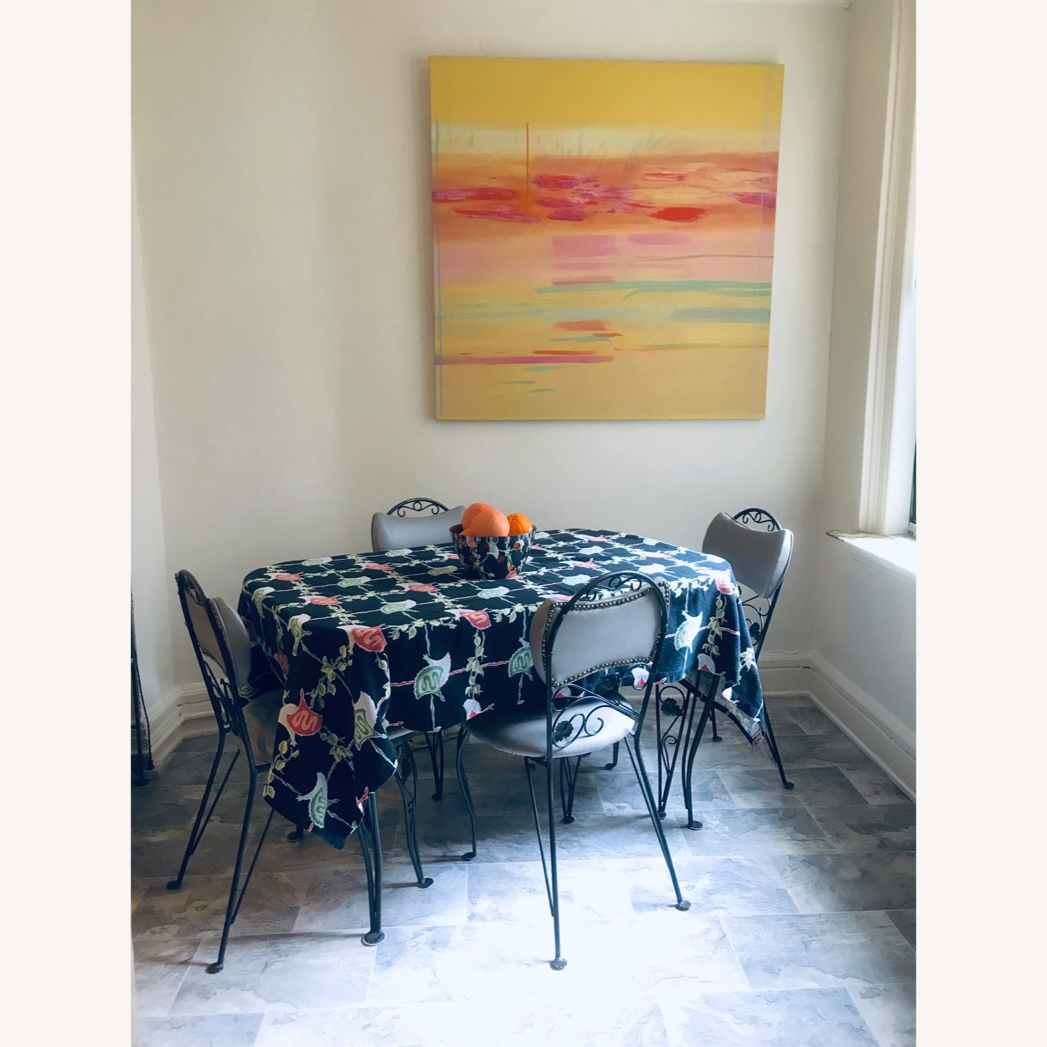 Vintage Wrought Iron / Formica Kitchen Table - image-5