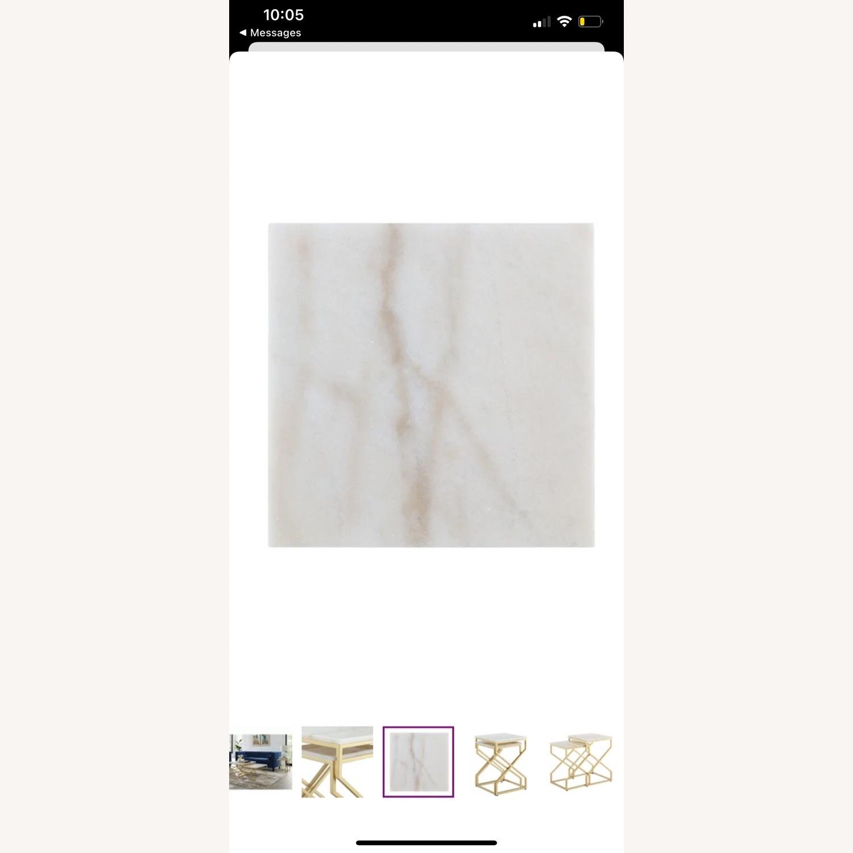 Wayfair Real Italian Marble Nesting Table pair - image-2